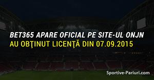 OFICIAL: Bet365 a primit licență în România