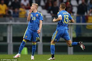 Ucraina - Romania (4-3): Zinchenko bate recordul lui Shevchenko
